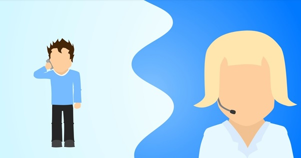 2d cartoon styled male talking to a female